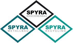Spyra Logo Spänezentrifuge Industriezentrifuge Späneaufbereitung Shredder Schredder Schreder Späne Förderband Förderer
