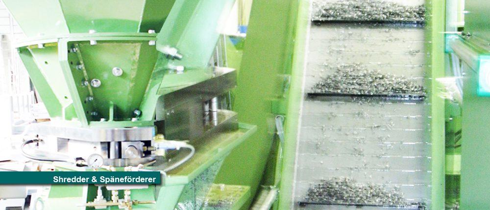Shredder Schredder Förderer Förderband Späneförderer Späneaufbereitung Späne Öl Emulsion Spyra Kopie