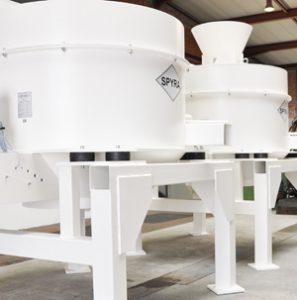Industriezentrifuge Spänezentrifuge Späneaufbereitung Spyra Zentrifuge zentrifugieren aufbereiten Späne